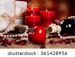st valentine's setting with red ... | Shutterstock . vector #361428956