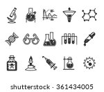 research and science icons set  ... | Shutterstock .eps vector #361434005
