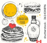 canadian food in the sketch... | Shutterstock .eps vector #361434896