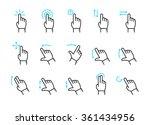 vector touch screen gestures... | Shutterstock .eps vector #361434956