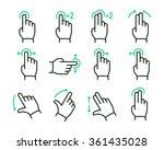 vector touch screen gestures... | Shutterstock .eps vector #361435028