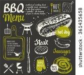 bbq party. vector illustration...   Shutterstock .eps vector #361435658