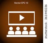 cinema vector icon | Shutterstock .eps vector #361440236