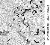 tracery seamless calming...   Shutterstock .eps vector #361440635