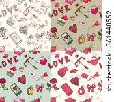 valentine's day wedding love...   Shutterstock .eps vector #361448552