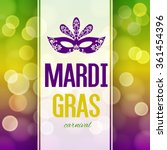 mardi gras carnival background... | Shutterstock .eps vector #361454396