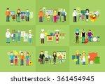work team people job concept... | Shutterstock . vector #361454945