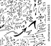 hand drawn doodle seamless... | Shutterstock .eps vector #361460255
