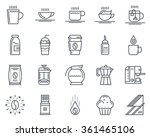 coffee icon set suitable for... | Shutterstock .eps vector #361465106