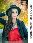 Beautiful Woman With Black Hat...