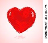 heart shape painted red... | Shutterstock .eps vector #361480895