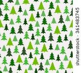 seamless pattern with green fir ... | Shutterstock .eps vector #361483745