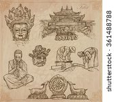an hand drawn collection ... | Shutterstock .eps vector #361488788