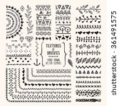 hand drawn textures and brushes.... | Shutterstock .eps vector #361491575
