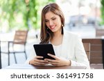 young business woman using a... | Shutterstock . vector #361491758