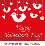valentines day card with birds | Shutterstock .eps vector #361492502