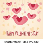 valentines day card with birds | Shutterstock .eps vector #361492532