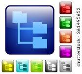 set of folder structure color...