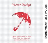 umbrella icon  vector...