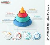 3d modern infographics options... | Shutterstock .eps vector #361504172