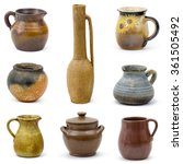 Collection Of Old Ceramic Vase...