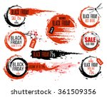 hand drawn ink badges for black ... | Shutterstock .eps vector #361509356