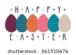 vector easter card with... | Shutterstock .eps vector #361510676