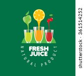 logo of fresh juice | Shutterstock .eps vector #361514252