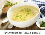 chicken broth with herbs   Shutterstock . vector #361515518
