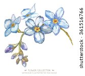 flower  in watercolor style.... | Shutterstock . vector #361516766