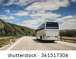 a white coach  or long haul bus ... | Shutterstock . vector #361517306