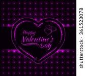 happy valentines day magenta... | Shutterstock . vector #361523078