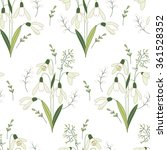 seamless pattern with stylized... | Shutterstock .eps vector #361528352