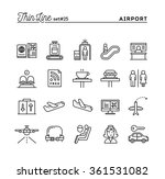 airport  luggage scanning ... | Shutterstock .eps vector #361531082