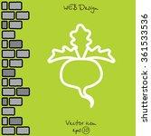 web line icon. sugar beet | Shutterstock .eps vector #361533536