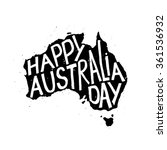 happy australia republic day... | Shutterstock .eps vector #361536932
