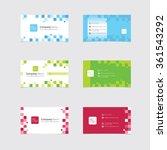 business card templates | Shutterstock .eps vector #361543292