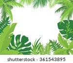 vector tropical jungle... | Shutterstock .eps vector #361543895