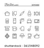 kitchen utensils  food... | Shutterstock .eps vector #361548092