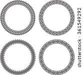 set of 4 elegant round frames.... | Shutterstock .eps vector #361549292