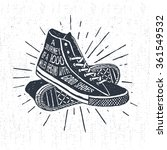 hand drawn textured vintage... | Shutterstock .eps vector #361549532