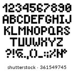 pixel bold rounded letters and... | Shutterstock .eps vector #361549745