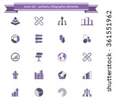 a set of 20 abstract icons  ... | Shutterstock .eps vector #361551962