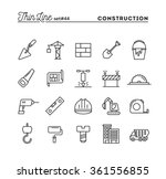 construction  building  project ... | Shutterstock .eps vector #361556855