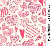 seamless pattern with hearts.... | Shutterstock .eps vector #361558718