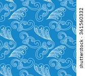 seamless pattern with hand... | Shutterstock .eps vector #361560332