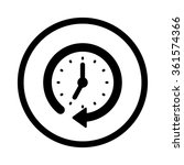 clock arrow.  | Shutterstock .eps vector #361574366