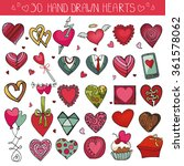 heart icons set.valentine... | Shutterstock .eps vector #361578062