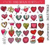 heart icons set.valentine... | Shutterstock .eps vector #361578062
