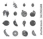 fruits. set of black icons. ... | Shutterstock .eps vector #361582688